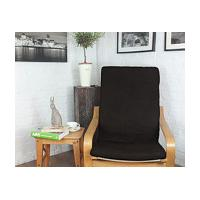 Ikea Poang cover in Black Vintage Distressed Faux leather